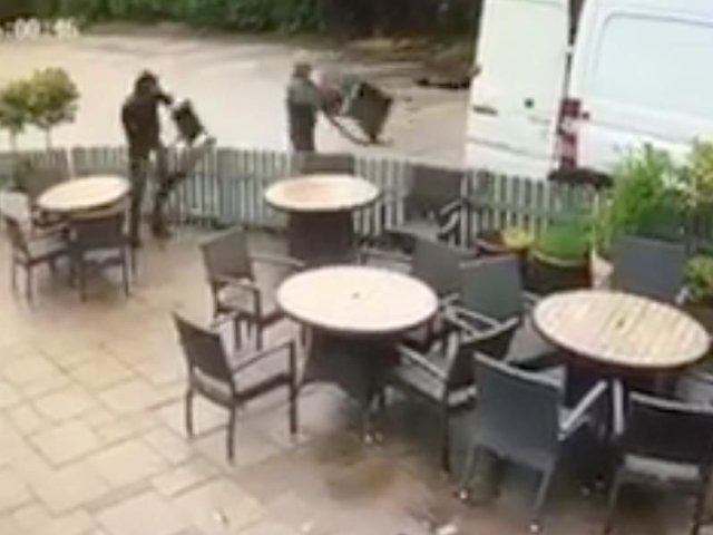 Watch Thieves Make Off With The Entire