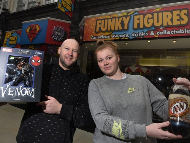 Paul Prescott and Shaunna Marsden outside the new double-fronted premises