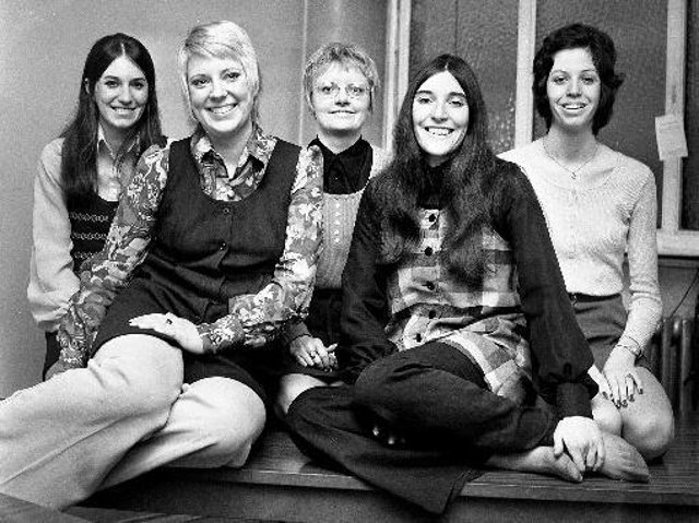 Staff at Cotton Goods, Buer Ave, Goose Green, 1973
