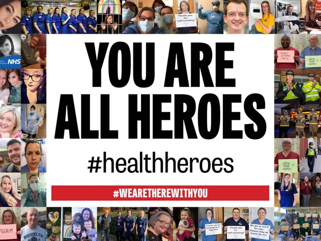 We'd like to say thank you to all of our health heroes.
