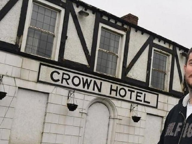 Andrew McKenna, the new tenant currently restoring and planning to re-open The Crown Hotel