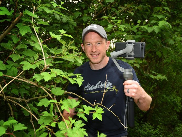 Kris Clarke has created the dinosaur-themed trail in Blundell's Wood