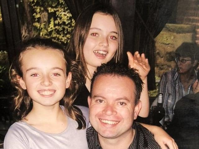 Shaun, Hannah aged 12 and Tasha aged 10