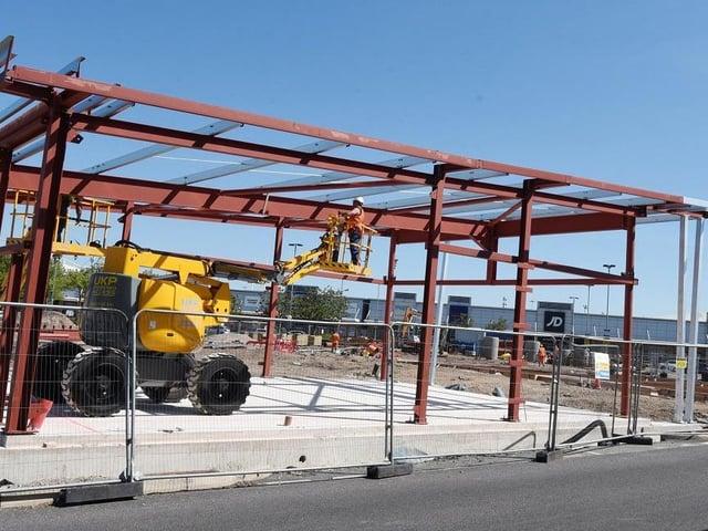 Construction has resumed on the Nandos at Robin Park