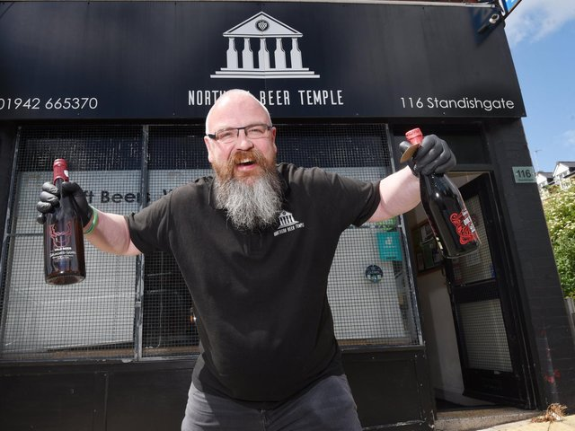 John Lomas at the reopened Northern Beer Temple