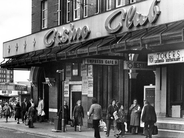 Exterior of The Wigan Casino Club pictured in the early 1970s, an iconic venue for so many star acts and the world famous Northern Soul music all-nighters.