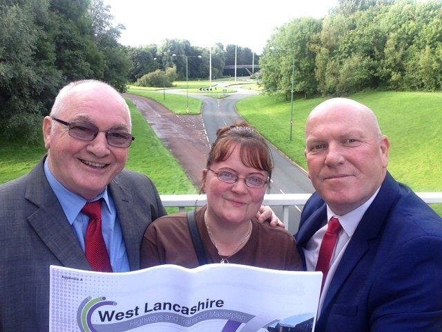 County councillors for the Skelmersdale area looking at the station site entrance