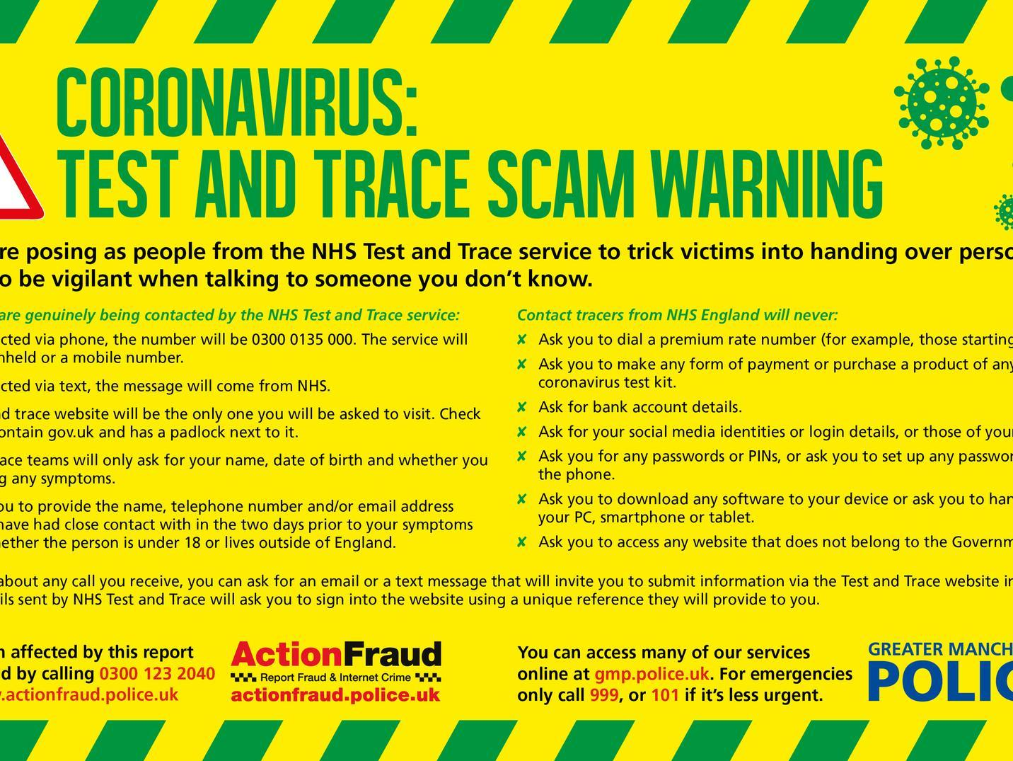 Police Issue Advice On How To Spot A Coronavirus Test And Trace Scam Wigan Today