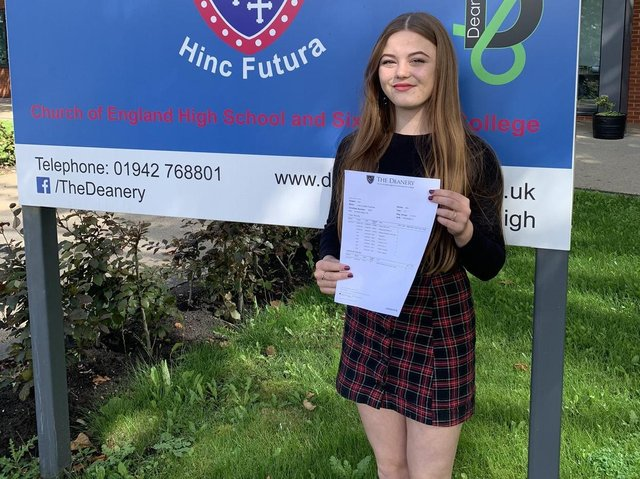 Deanery High School head girl Lucy Coleman who gained an incredible nine grade 9s