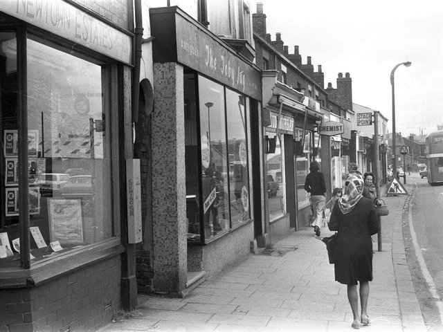 The Saddle Junction part of Ormskirk Road,  Newtown, Wigan, in 1974