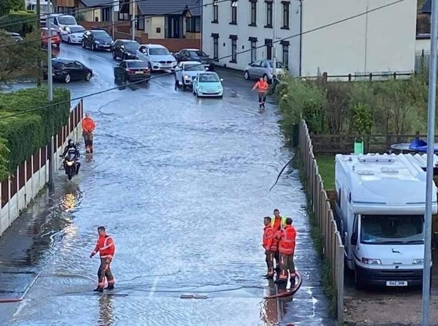 Wigan Lower Road under water