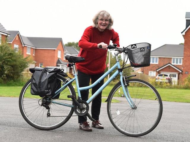 Sarah Gall now enjoys cycling