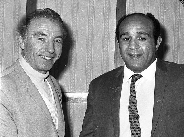 RETRO 1967  - A pair of sporting greats Sir Stanley Matthews and our own Wigan Rugby Leauge legend Billy Boston.