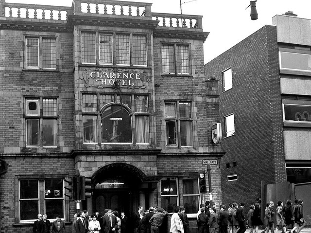 The Clarence Hotel on Wallgate, Wigan, in 1970