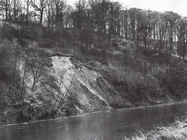 Scene of the Red Scar fishing tragedy, which killed two anglers in November 1950 when the riverbank gave way