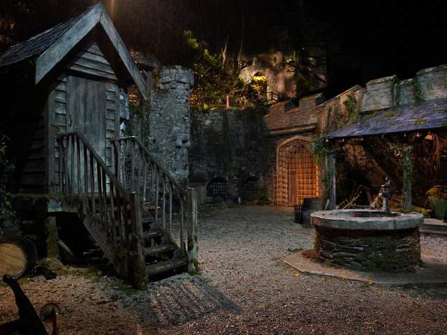 Gwrych Castle, in Abergele, has been transformed into a campsite for the new series