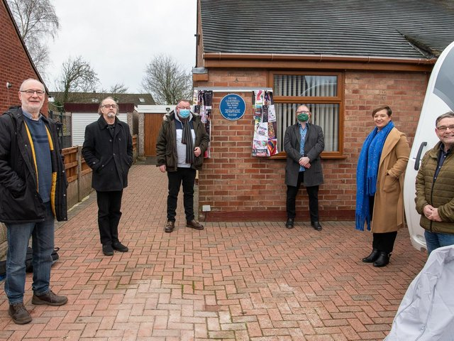 The unveiling of the blue plaque for Pete Shelley