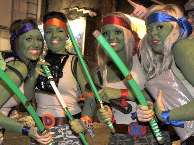 Ninja Turtles in force on King Street in 2010.
