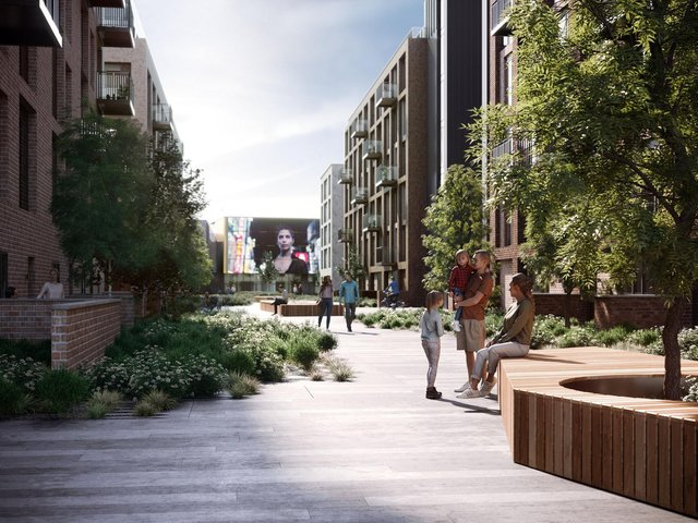 An impression of part of the redevelopment scheme