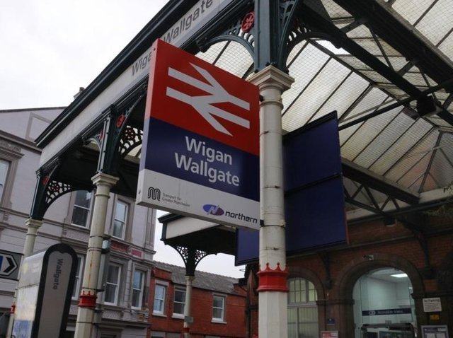 Journeys from Wigan's railway stations are being affected by the adverse weather conditions