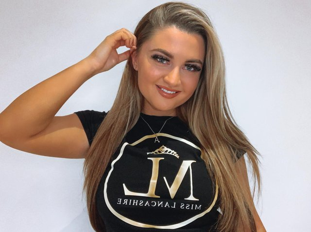 Winning Miss Lancashire would put Angel-Blue in the national finals