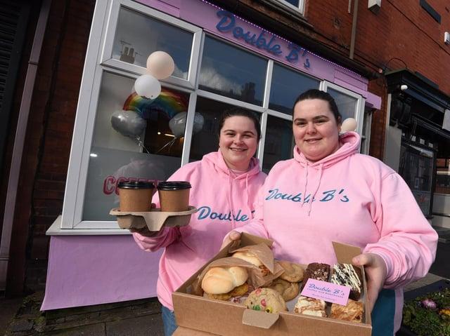 Jess Doughty and Leah Moore outside Double B's Bakehouse