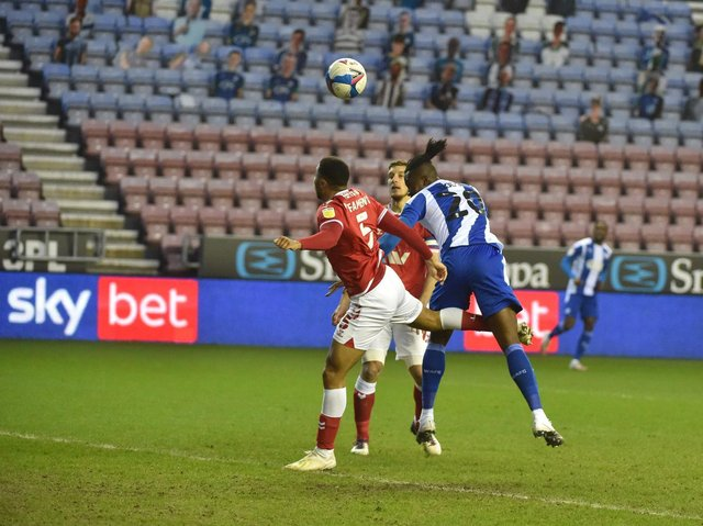 Joe Dodoo headed Wigan Athletic's best chance against Charlton wide of the post