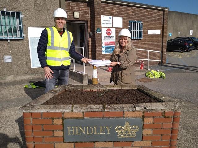David Morgan and Lucy Clayson at HMP Hindley