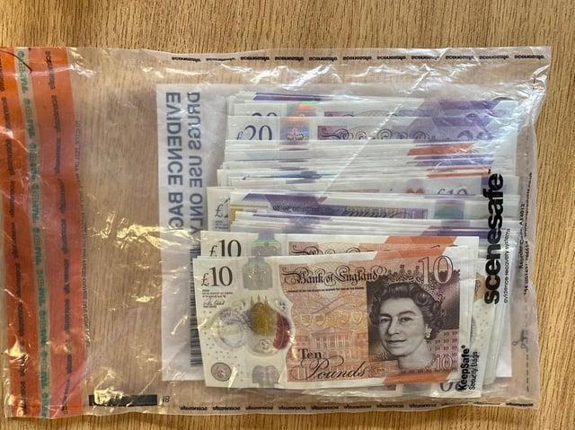 Cash was seized