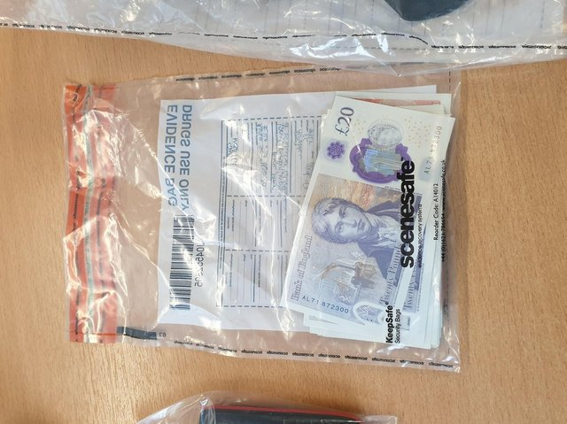 Cash found by the police