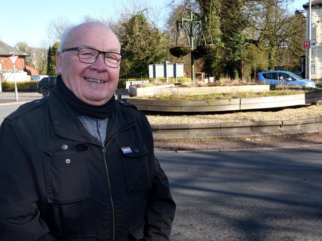 Councillor George Davies at the Cherry Gardens roundabout
