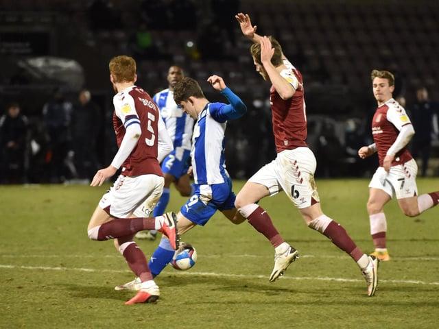 Callum Lang secured Latics an away win at Northampton recently