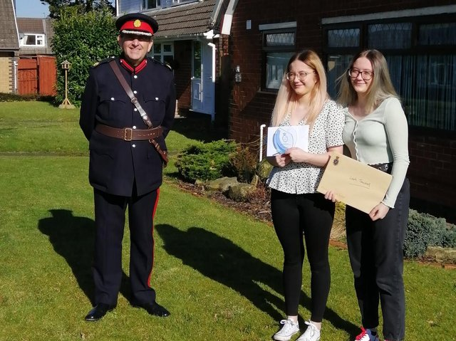 Dr Eamonn O'Neal, High Sheriff of Greater Manchester, presented the awards to the twins