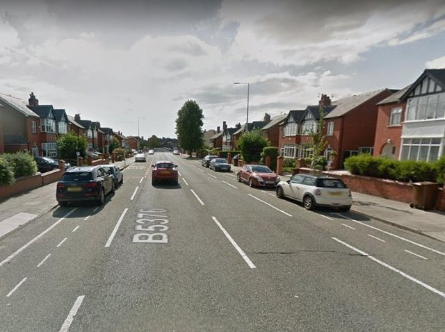 He admitted driving on Mesnes Road when uninsured and without a licence. Pic: Google Street View