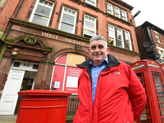 Tony Callaghan outside the former GPO on Wallgate which closed two years ago