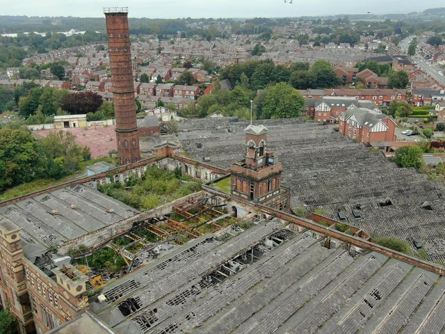 The Grade II listed Pagefield Building, formerly Rylands Mill or Pagefield Mill, Swinley, Wigan, has been a target for vandals, arsonists and trespassers can now be fined or sent to prison if caught on the site