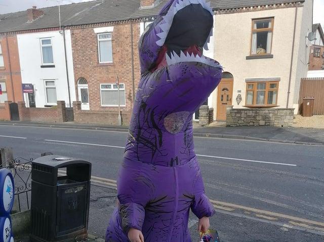 Daisy the Dinosaur, also known as Amelia Kendrick