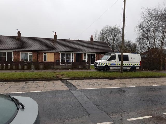 Police on Scot Lane