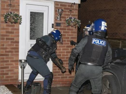 Officers during this morning's operation (Image: GMP)
