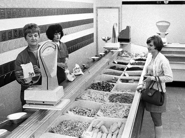 Whelan's frozen food store on Market Street in Wigan in 1970