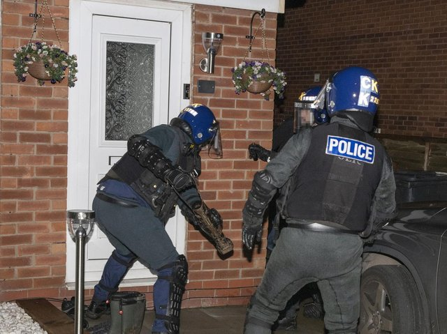 Officers during the operation (Image: GMP)