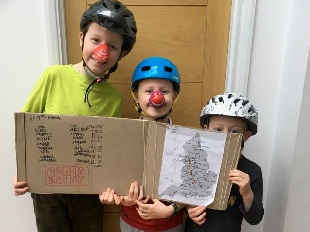 Javi, Leo and Seb plotted their route to Standish on a map