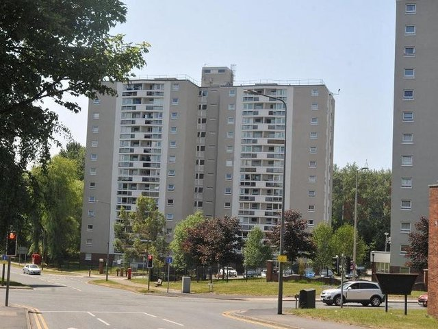 Council flats in Scholes; many residents are unaware of the caretaker service which is available for them to utilise