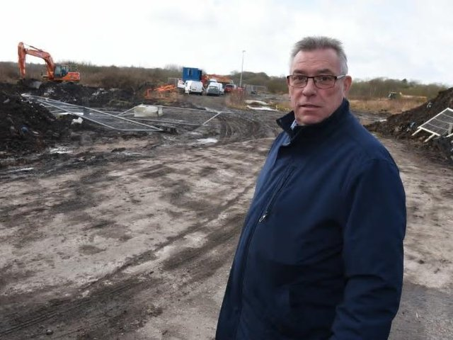 Coun Ray Whittingham on the land off Chorley Road, Standish, near Worthington Lake - the area is being treated for Japanese Knotweed