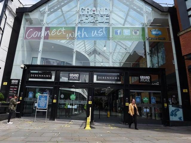 The Grand Arcade in Wigan town centre