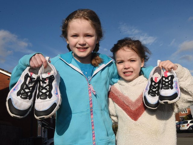 Young fund-raisers Lizzie and Victoria Rutter
