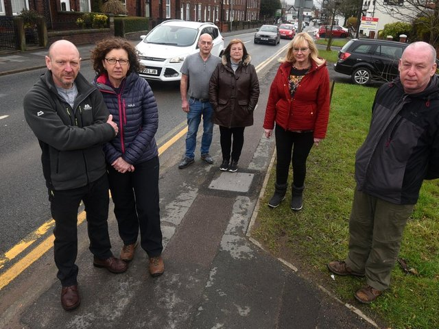 Residents on School Lane who oppose the idea to widen the road