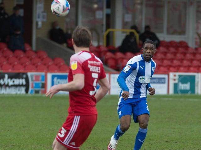 Tendayi Darikwa in action against Accrington