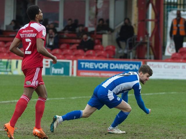 Callum Lang puts Latics ahead at Accrington