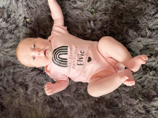 Kayley Parkinson from Spring View sent in a photo of Elvie Rose, born 29th April 2020